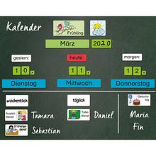 Magnetischer Kalender mit Klassendiensten, 76-tlg.
