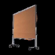 Moderationswand Serie MTK mit Naturkorkoberfläche Tafelformat: 120x150 cm, Gesamthöhe: 195 cm, klappbar, fahrbar