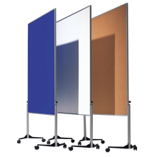 Moderationswand Serie MTS Tafelmaß: 120x150 cm, Gesamthöhe: 195 cm, in Hellgrün