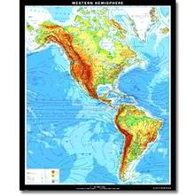 Nord- und Südamerika physisch, XXL