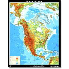 Nordamerika physisch/politisch, XXL