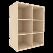 Offenes Regal für die Höhe von 3 Ordnern, Serie 401-1 120 cm Breite, 108 cm Höhe, 60 cm Tiefe, Mittelwand, Aufsatzregal
