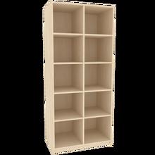 Offenes Regal für die Höhe von 5 Ordnern, Serie 404-1 120 cm Breite, 190 cm Höhe, 40 cm Tiefe, Mittelwand
