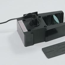 Optikleuchte, magnethaftend, mit Kondensorlinse, Einspalt/Dreispaltblende und zwei Abschlussblenden