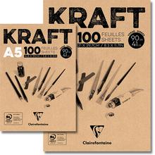 Packpapier-Block KRAFT, braun gerippt