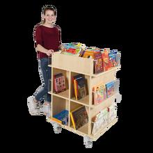 Präsentationswagen für Bücher, mit 18 Fächern B/H/T: 73x105x60 cm