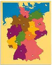 Puzzlekarte Deutschland