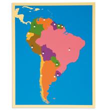 Puzzlekarte Südamerika