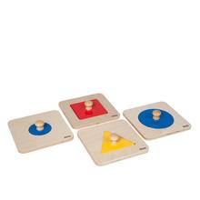 Puzzlesatz mit einzelnen Figuren