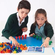 Riesensteckspiel Zahlen, Farben