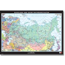 Russland + Nachbarstaaten physisch/politisch, L