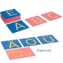 Sandpapierbuchstaben, Druckschrift + lateinische