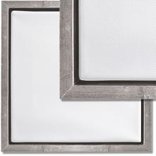 Schattenfugenrahmen-Set Silber *Aktion*