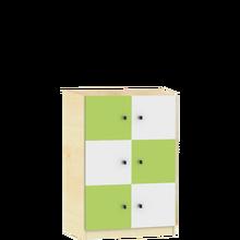Schließfachschrank 2x3 Fächern B/H/T: 81,7x190x50 cm