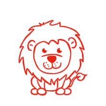 Siebdruck-Stempel Löwe