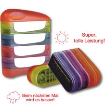 Siebdruck-Stempel Sonne und Wolken
