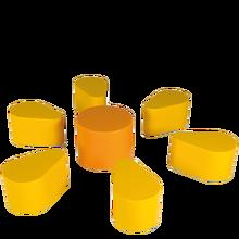 Sitzgruppe Flowerpower, 7-teilig, Höhe: 35/40 cm