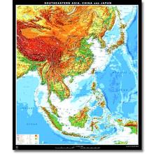 Südostasien, China, Japan physisch, XXL