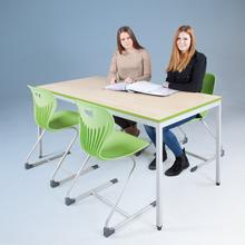 Tisch Classic mit Quadratprofilrohrgestell