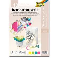 Transparentpapier A4, farbig sortiert