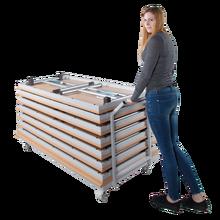 Transportwagen für Klapptische, fahrbar Maße werden an die Tischgröße angepasst