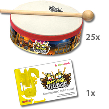 Trommel-Kiste Rhythmic Village 1 + App