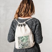Turnbeutel mit Reißverschlusstasche