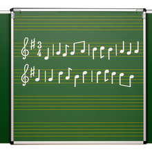 Überhang-Notentafel mit Notenlineatur