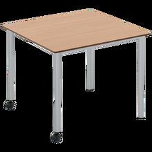 Vari² Quadrattisch 90 x 90 cm, Vollkernplatte, fahrbar