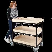Vorbereitungswagen mit 3 Ablageböden mit Aufkantung B/H/T: 100x96x60 cm
