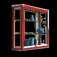 Wandvitrine V16 mit 2 verstellbaren Dickglasböden B/H/T: 150x96x30 cm