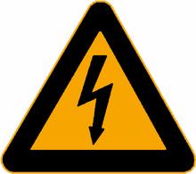 Warnschild: Hochspannung