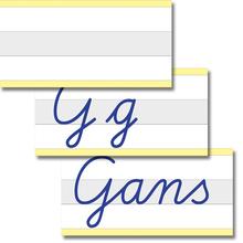 Whiteboard-Demo-Schreibzeile 3-geteilt, Mittelzeile grau