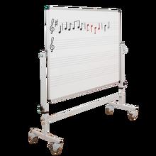 Whiteboard Notentafel fahrbar 120 x 100 cm