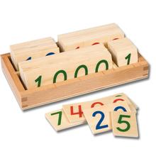 Zahlenkarten im Kasten 1-9000