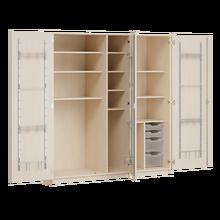 Zweitüriger Musikschrank MOFF 3, mit 4 ErgoTray-Boxen, 9 Einlegeböden B/H/T: 179,8x190x60 cm, feststehend