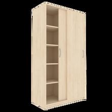 Zweitüriger Schiebetürschrank für die Höhe von 5 Ordnern, Serie 484-1 120 cm Breite, 190 cm Höhe, 60 cm Tiefe, Mittelwand