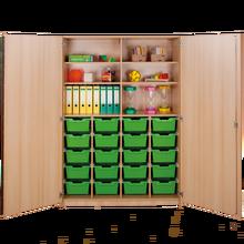 Zweitüriger Schrank mit 20 hohen ErgoTray Boxen