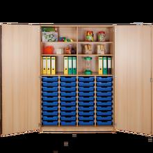 Zweitüriger Schrank mit 40 flachen ErgoTray Boxen