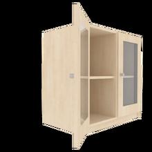 Zweitüriger Schrank mit verglasten Flügeltüren für die Höhe von 2 Ordnern, Serie 440-1 120 cm Breite, 82 cm Höhe, 60 cm Tiefe, 4