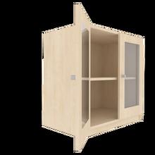 Zweitüriger Schrank mit verglasten Flügeltüren für die Höhe von 2 Ordnern, Serie 440 100 cm Breite, 82 cm Höhe, 60 cm Tiefe, 4/5