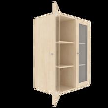 Zweitüriger Schrank mit verglasten Flügeltüren für die Höhe von 3 Ordnern, Serie 441-1 120 cm Breite, 108 cm Höhe, 40 cm Tiefe,
