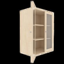 Zweitüriger Schrank mit verglasten Flügeltüren für die Höhe von 3 Ordnern, Serie 441 100 cm Breite, 108 cm Höhe, 50 cm Tiefe, 4/