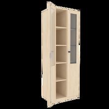 Zweitüriger Schrank mit verglasten Flügeltüren für die Höhe von 5 Ordnern, Serie 460-1 120 cm Breite, 190 cm Höhe, 40 cm Tiefe,