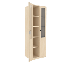 Zweitüriger Schrank mit verglasten Flügeltüren für die Höhe von 5 Ordnern, Serie 460-1 120 cm Breite, 190 cm Höhe, 50 cm Tiefe,