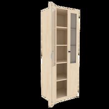 Zweitüriger Schrank mit verglasten Flügeltüren für die Höhe von 5 Ordnern, Serie 460 100 cm Breite, 190 cm Höhe, 50 cm Tiefe, 2/