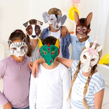 Kindermasken-Set Tiere