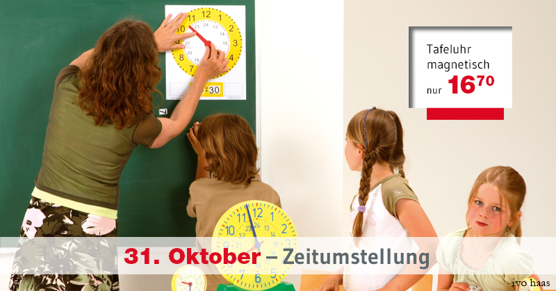 31. Oktober – Zeitumstellung